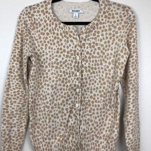 3/$20 Old Navy Animal Print Cardigan Sweater